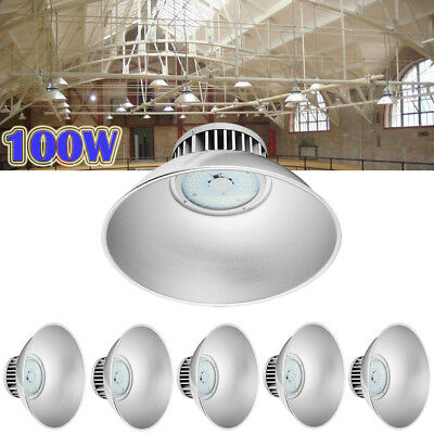 6X 100W LED High Bay Light Lamp Factory Warehouse Industrial Shed Roof Lighting