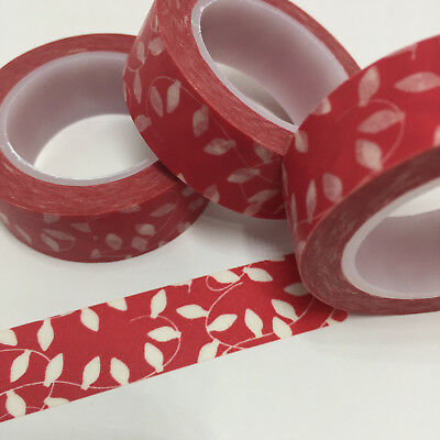 Washi Tape Party Lights On Red 15Mm X 10Mtr Planner Craft Wrap Scrap Mail Art