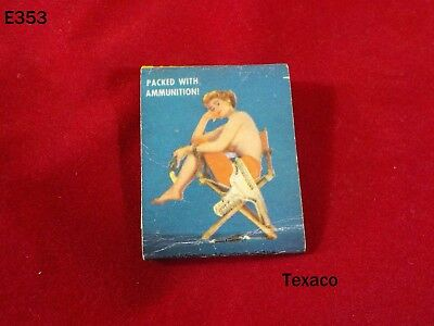 Vintage Texaco Texas Company Motor Oil Service Station Pin Up Girl Matchbook