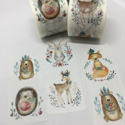 Washi Tape Wide Forest Woodland Animals 30Mm X 5Mtr Craft Planner Wrap Mail Art