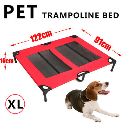 2 Colors Pet Bed Trampoline Dog Puppy Cat Heavy Duty Frame Hammock Mesh X/XL