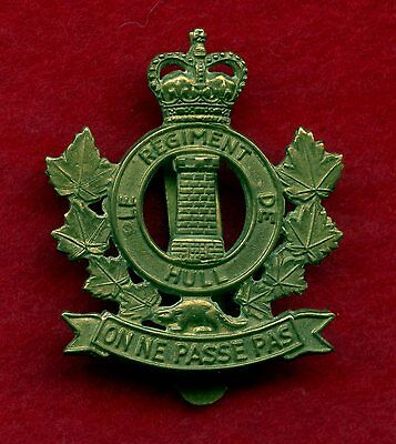 Canada Hull Regiment Cap Badge (Queens Crown)