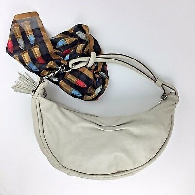 57903ae77 FOSSIL WOMEN'S HOBO Bag Med Size Beige Leather One Strap, One Zipper ...
