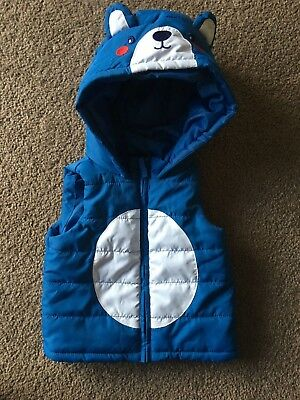 Baby Boy Warm Vest With Hood Size 0 Target Perfect Condition