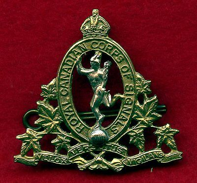 WW2 Canada Armed Forces Corps Signal Cap Badge