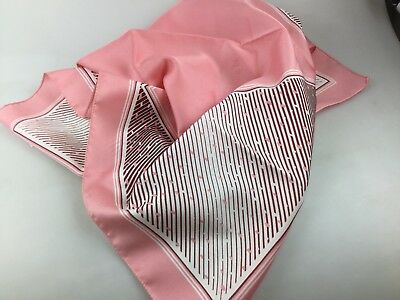 Vintage Scarf By Rikki Of Melbourne - 1960's - Made In Italy Pink Tones