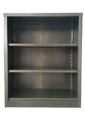 3 Shelf Steel Bookcase - Antique Bronze
