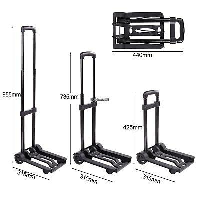 Folding Dolly Push Truck Trolley Luggage Cart Handle Platform Cart with Wheels