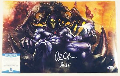 Alan Oppenheimer Skeletor Signed Motu 11X17 Metallic Photo Bas Coa 206