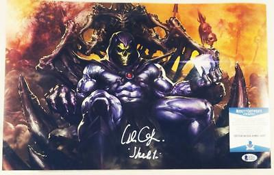 Alan Oppenheimer Skeletor Signed Motu 11X17 Metallic Photo Bas Coa 207