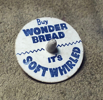 WONDER BREAD ADVERTISING TOY SPINNING TOP 1960s