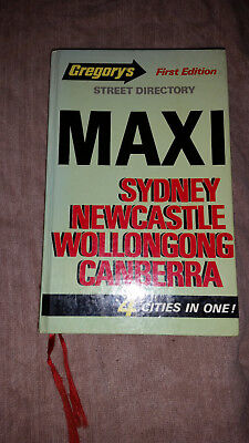 Gregory's street directory First edition of Maxi