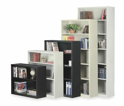 4 Shelf Steel Bookcase - Black