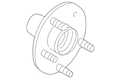 ford oem rear suspension hub 6l1z1109f 273 25 picclick 2000 Ford Windstar Parts Diagram genuine ford hub assembly 6l1z 1109 f
