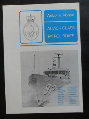 Royal Australian Navy ATTACK CLASS PATROL BOATS Welcome Aboard 1970's