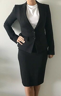 Black Cue Suit Size 6 Jacket/Size 8 Skirt