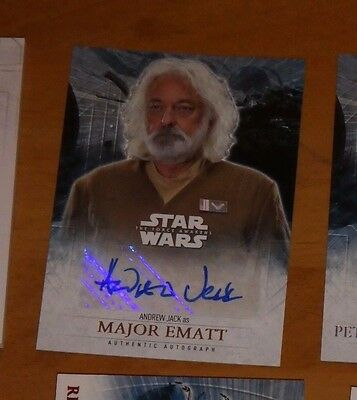 Topps STAR WARS Force Awakens Serie 2 Card Autograph ANDREW JACK Carte RARE