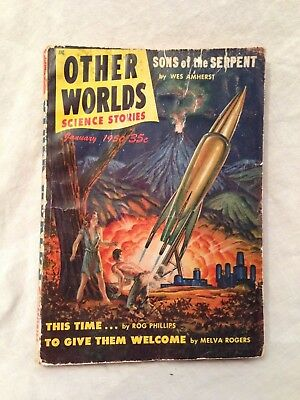 Other Worlds - January 1950 - Raymond Palmer, Wes Amherst, Rog Phillips, SF Pulp