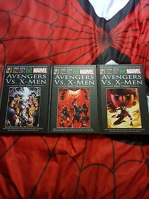 Marvel Ultimate Graphic novels collection avengers vs x men parts 1 to 3
