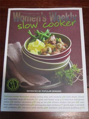 WOMENS WEEKLY COOKBOOK COOKING RECIPES SLOW COOKER crock pot FREE SHIPPING