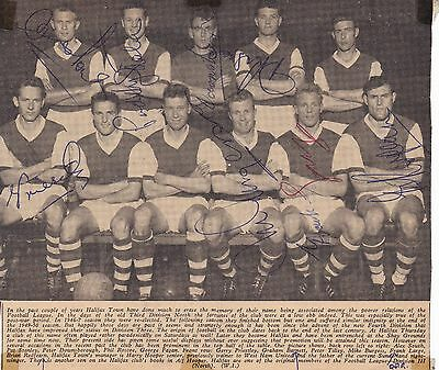 Halifax Team Photo 1960S Autographed