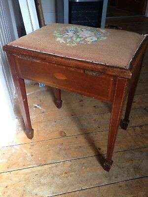 Antique Piano Stool In Need Of Restoration