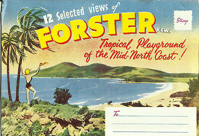 Postcard View Folder - Forster, NSW, Australia - 1940's?