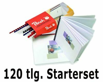 Peach Cover Starterset for plastikbindung 120 Pc Comb Binding Spines Sheets