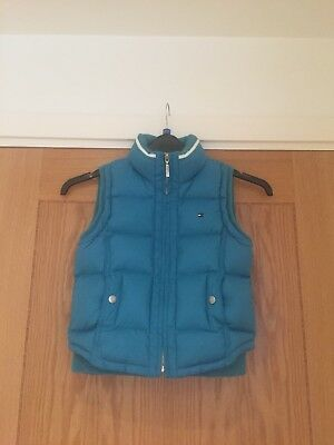 tommy hilfiger Kids Boys Girls Gilet Body Warmer turquoise blue