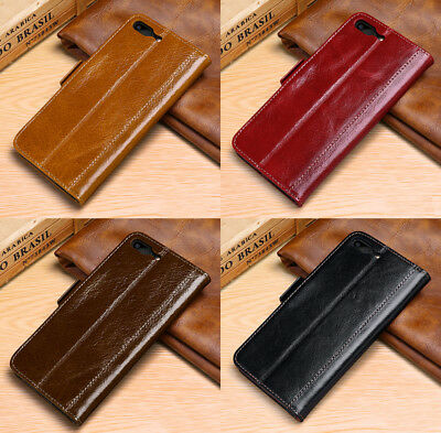 Flip Magnetic Wallet Genuine Leather Case Cover For Apple iPhone 7 / 8 & Plus