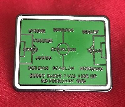 Manchester United Busby Babes Last Line Up Pin Badge