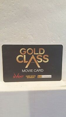 Cinema Gift Card for Event, Greater Union, BCC  $250 Value FREE Registered Post