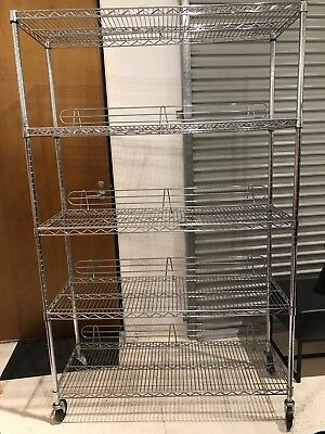 5 Tier Mobile Steel Shelving Units - Urgent Sale - Abbotsford Vic