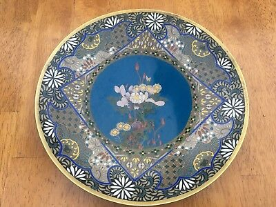 cloisonne japanese plate 9.5 inch dia.