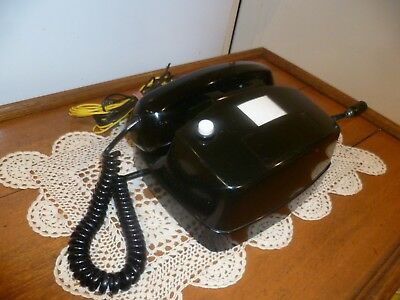 VINTAGE TELEPHONE - BLACK  DIAL PHONE - 50 yo - WORKS PERFECTLY - Very Unusual