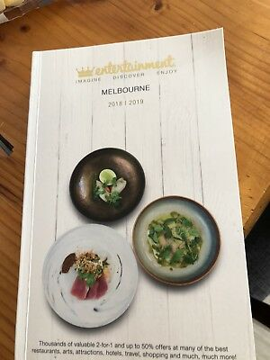 Melbourne 2018/2019 Entertainment Book Voucher.