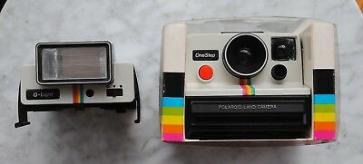 Polaroid Land Camera Supercolor OneStep; never used in original box with flash.