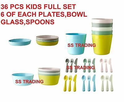 IKEA CHILDRENS PLASTIC Sets Cutlery / Cups / Plates / Bowls Kids ...