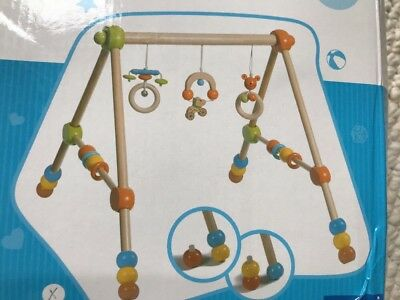 Wooden Baby Play Gym: Natural Educational Excercauser for Baby Kids Nursery New