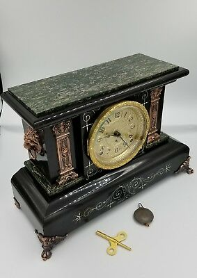 Completely Restored Seth Thomas Adamantine Antique Mantle Clock circa 1890