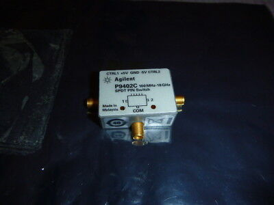 HP Agilent P9402C SPDT Solid State PIN Switch, 100 MHz - 18 GHz, SMA Connectors