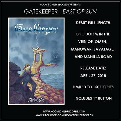 GATEKEEPER - East of Sun TAPE (LIM.150*CAN EPIC METAL*SOLSTICE*VISIGOTH)