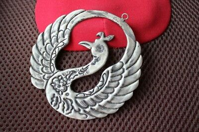 Tribal exotic chinese handmade miao silver Phoenix Pendant