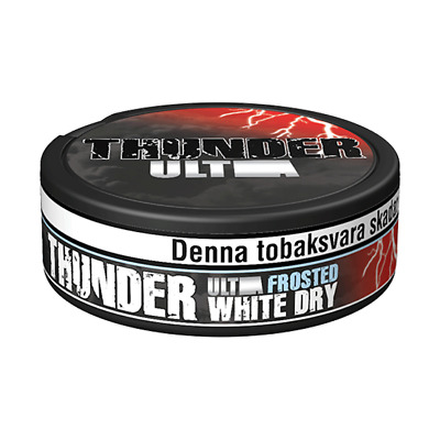 Snus, Thunder Ultra Frosted White Dry Portion 1 Can!