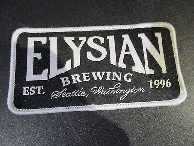 ELYSIAN BREWING COMPANY White Border LOGO PATCH iron on craft beer brewery