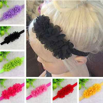 Baby headband hair band baby newborn bow photo prop party flower girls FG