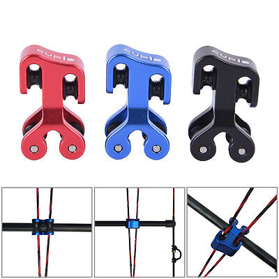 Aluminum Pulley Cable Slide Hunting Bowstring Protector for Compound Bow FG
