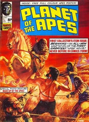 PLANET OF THE APES [MARVEL UK] COMICS ON DISC No.1 TO No.123 [APES CONTENT ONLY]