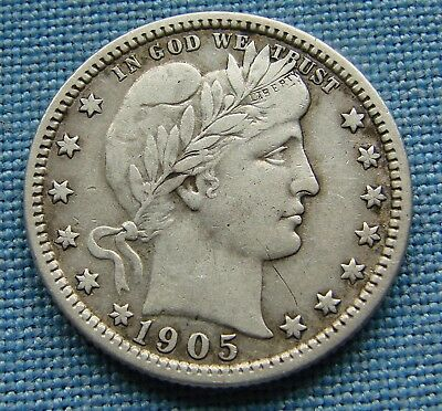 "*nice Looking 1905 Barber Quarter ""harder Date"" - Estate Fresh*"