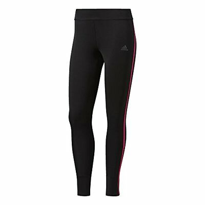 adidas Response Collant Longue Femme, Black/Shock Pink, FR : S (Taille Fabric...